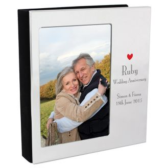 Decorative Ruby Anniversary Photo Album 6x4