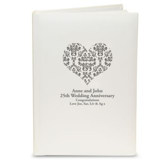 Black Damask Heart Album with Sleeves