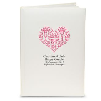 Ruby Damask Heart Album with Sleeves