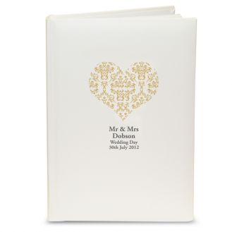 Gold Damask Heart Album with Sleeves