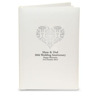 Silver Damask Heart Album with Sleeves