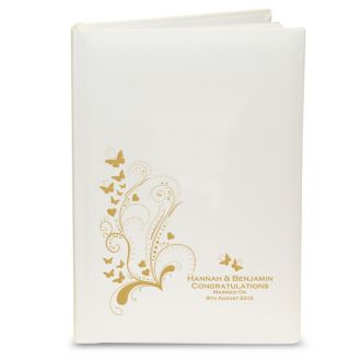 Gold Butterfly Swirl Album with Sleeves