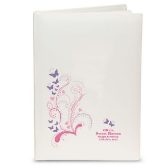 Pink Butterfly Swirl Album with Sleeves