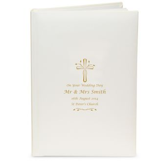 Gold Cross Photo Album with Sleeves