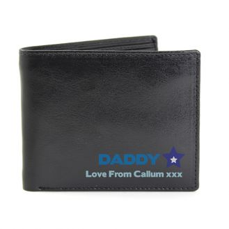 Personalised Blue Worlds Best Dad Wallet