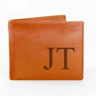 Brown Big Initials Wallet