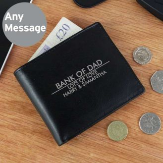 Personalised Classic Black Leather Wallet