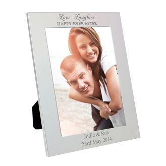Silver 5x7 Happily Ever After Frame